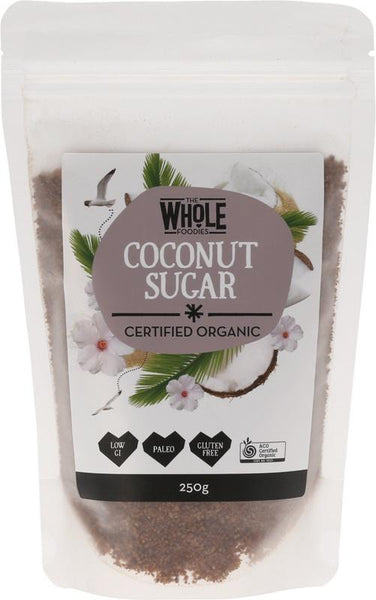 Coconut Sugar 250g | THE WHOLE FOODIES - Tassie Supps - PANTRY