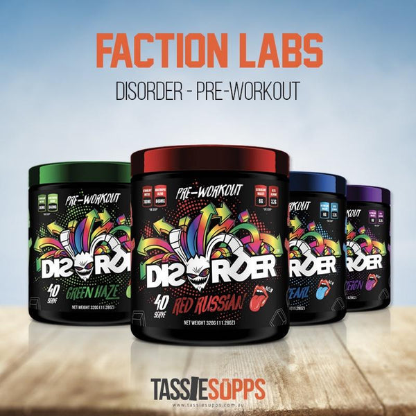 DISORDER - INTENSE PRE-WORKOUT | FACTION LABS - Tassie Supps - Pre-Workout