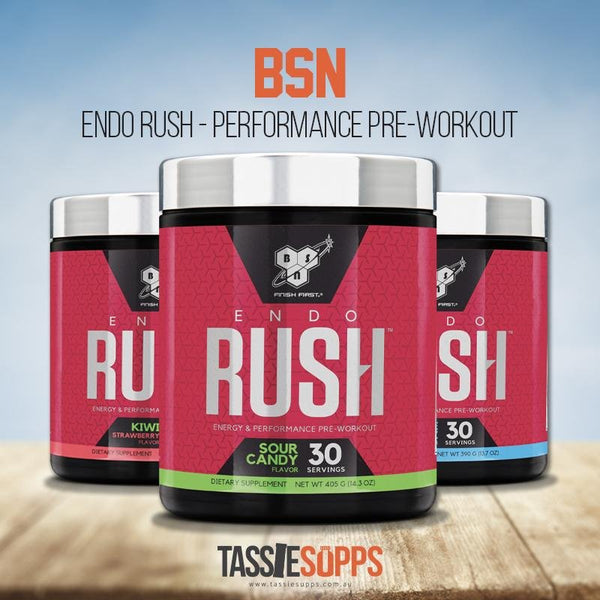 ENDO RUSH PRE-WORKOUT | BSN SUPPLEMENTS - Tassie Supps - Pre-Workout