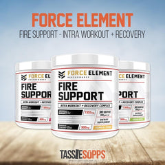 FIRE SUPPORT - INTRA-WORKOUT + RECOVERY | FORCE ELEMENT PERFORMANCE - Tassie Supps - BCAA