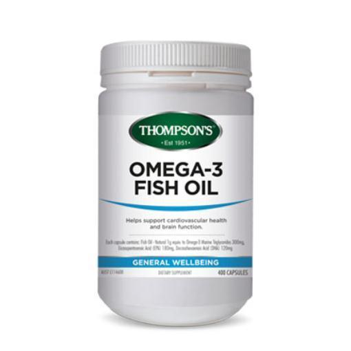 Fish Oil 1000mg | 400 Capsules | THOMPSON'S - Tassie Supps - Vitamin's | Tablets