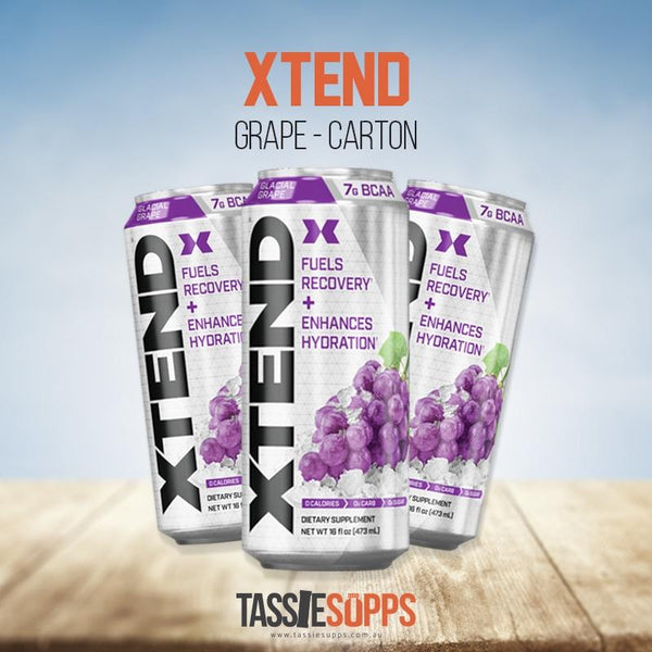 GRAPE - CARTON - XTEND BCAA - CARBONATED DRINK | XTEND - Tassie Supps - Ready To Drink (RTD)
