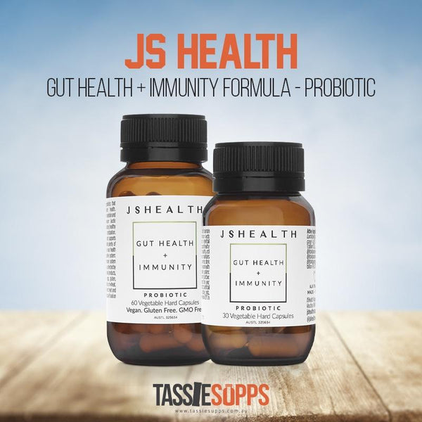 GUT HEALTH + IMMUNITY FORMULA - PROBIOTIC (SHELF-STABLE) | JS HEALTH - Tassie Supps - GUT HEALTH / GREENS / ETC