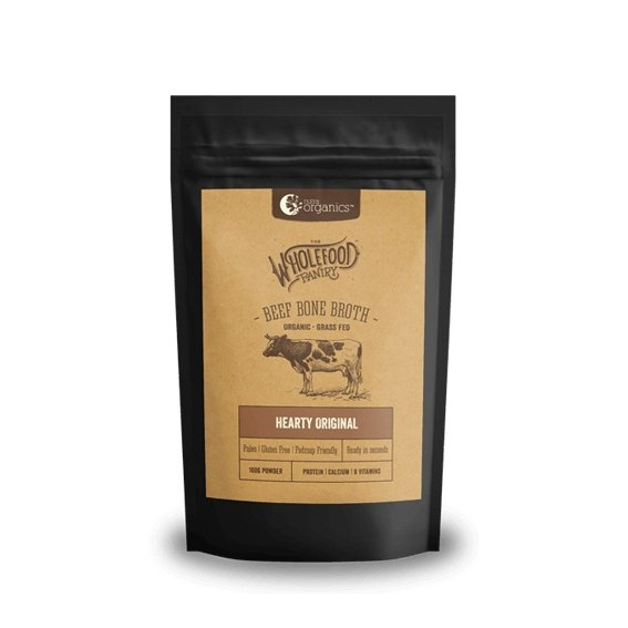 HEARTY ORIGINAL 100G | BEEF BONE BROTH POWDER by NUTRA ORGANICS - Tassie Supps - PANTRY