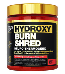 HYDROXYBURN SHRED NEURO-THERMOGENIC | BSc - BODYSCIENCE - Tassie Supps - FAT BURNERS / DETOX / WEIGHT LOSS