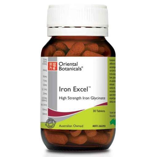 Iron Excel Tablets | ORIENTAL BOTANICALS - Tassie Supps - Vitamin's | Tablets