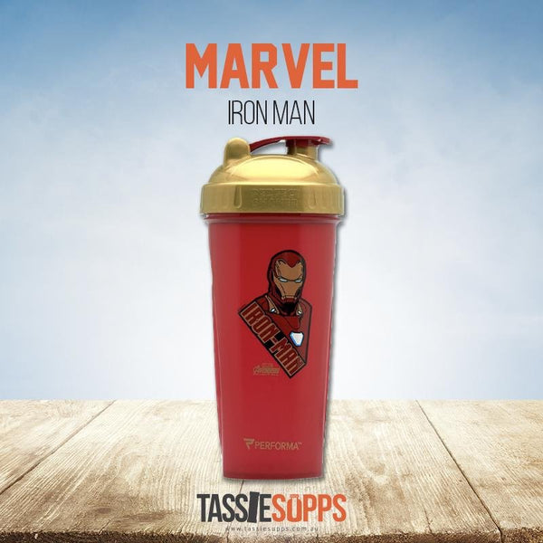 IRON-MAN - SHAKER CUP - MARVEL HERO AVENGERS INFINITY SERIES | PERFECT SHAKER - Tassie Supps - Shakers / Bottles