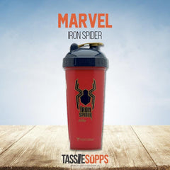 IRON SPIDER-MAN - SHAKER CUP - MARVEL HERO AVENGERS INFINITY SERIES | PERFECT SHAKER - Tassie Supps - Shakers / Bottles