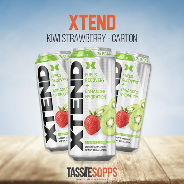 KIWI STRAWBERRY - CARTON - XTEND BCAA - CARBONATED DRINK | XTEND - Tassie Supps - Ready To Drink (RTD)
