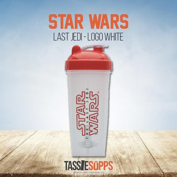 LAST JEDI LOGO (WHITE) - SHAKER CUP - STAR WARS | PERFECT SHAKER - Tassie Supps - Shakers / Bottles