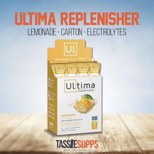 LEMONADE - STICK PACK CARTON - KETO ELECTROLYTES + TRACE MINERALS | ULTIMA REPLENISHER - Tassie Supps - KETO