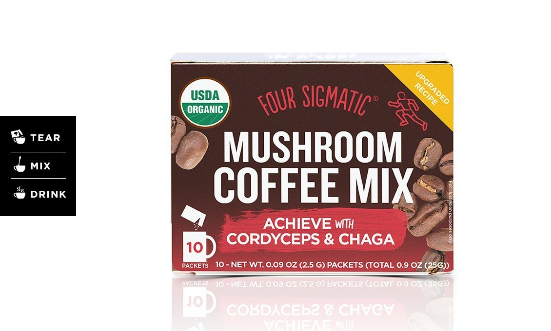 MUSHROOM COFFEE - ACHIEVE MIX WITH CORDYCEPS & CHAGA | FOUR SIGMATIC - Tassie Supps - PANTRY