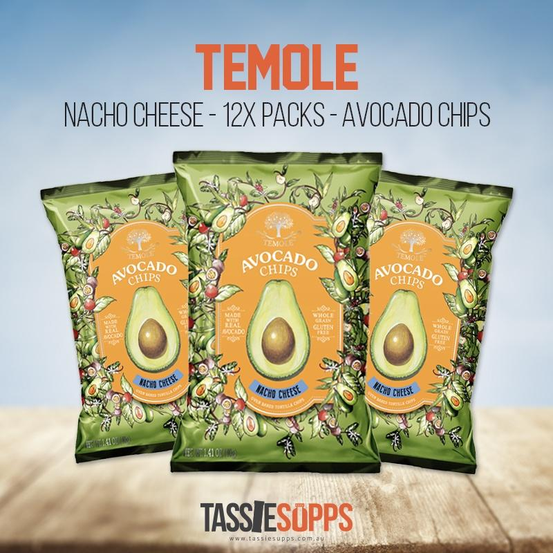 NACHO CHEESE - CARTON - AVOCADO CHIPS | TEMOLE - Tassie Supps - Snacks