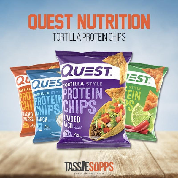 *NEW FLAVOURS* TORTILLA PROTEIN CHIPS | QUEST NUTRITION - Tassie Supps - Snacks