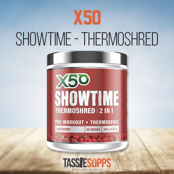 *NEW* RASPBERRY - SHOWTIME - FAT BURNER | X50 - Tassie Supps - FAT BURNERS / DETOX / WEIGHT LOSS