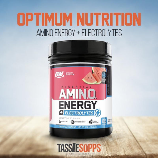 *NEW SIZE* WATERMELON 65SRV - AMINO ENERGY + ELECTROLYTES | OPTIMUM NUTRITION - Tassie Supps - AMINO's