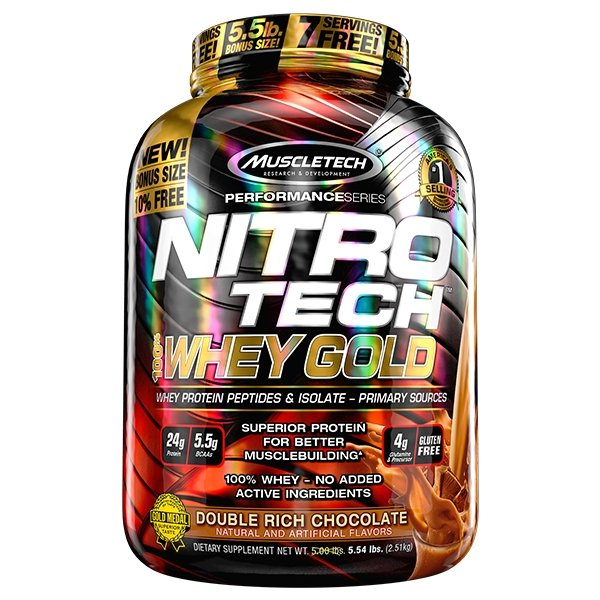 NITRO TECH 100% WHEY GOLD 5.5LB | MUSCLETECH - Tassie Supps - PROTEIN - DAIRY BASED