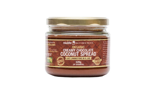 NIULIFE Coconut Chocolate Spread Jam 320g - Tassie Supps - PANTRY