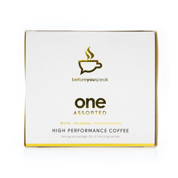 ONE ASSORTED BOX - COFFEE | BEFORE YOU SPEAK - Tassie Supps - KETO