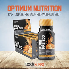 ORANGE BURST - CARTON - PURE PRE 200 - PRE-WORKOUT SHOT | OPTIMUM NUTRITION - Tassie Supps - Ready To Drink (RTD)