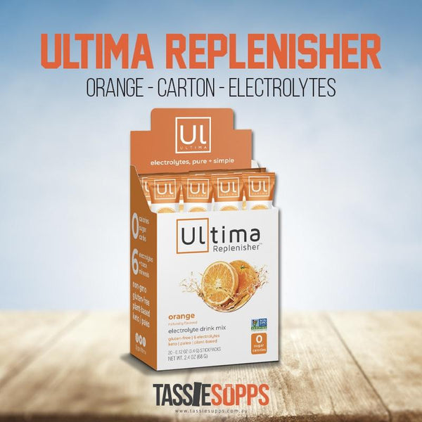 ORANGE - STICK PACK CARTON - KETO ELECTROLYTES + TRACE MINERALS | ULTIMA REPLENISHER - Tassie Supps - KETO
