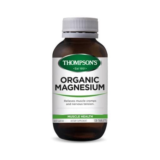 Organic Magnesium | 120 Tablets by THOMPSON'S - Tassie Supps - Vitamin's | Tablets