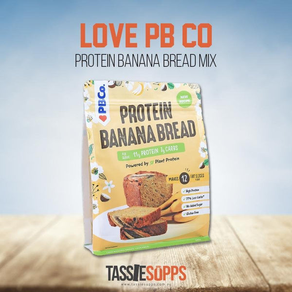 PLANT BASED PROTEIN BANANA BREAD MIX | LOVE PB CO - Tassie Supps - PANTRY