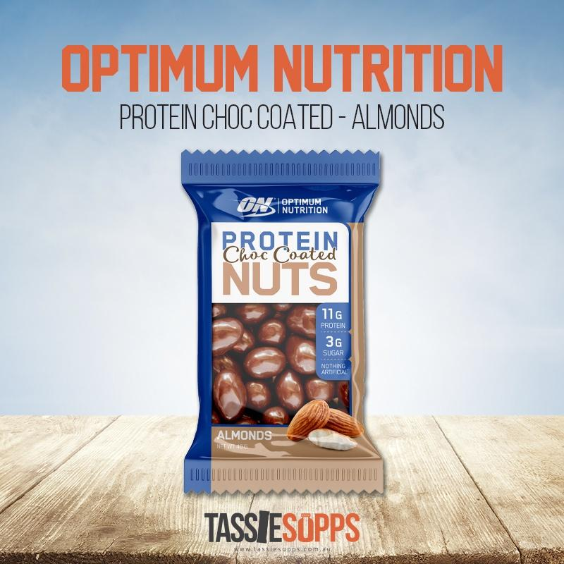 PROTEIN CHOC ALMONDS | OPTIMUM NUTRITION - Tassie Supps - Snacks