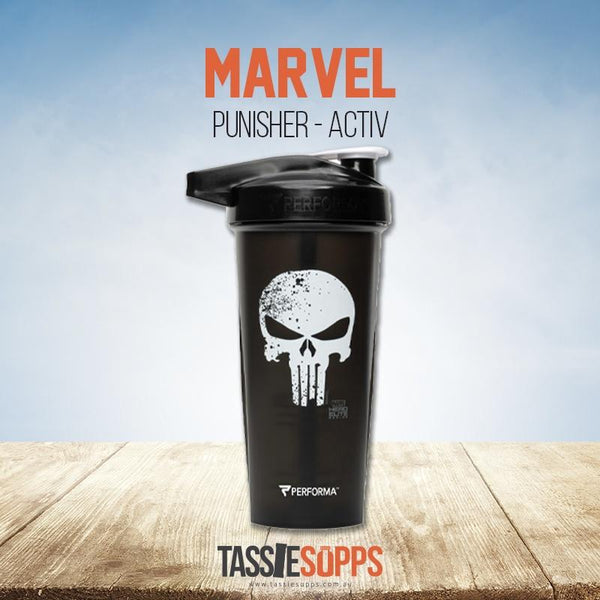 PUNISHER - ACTIV SHAKER CUP - MARVEL | PERFECT SHAKER - Tassie Supps - Shakers / Bottles