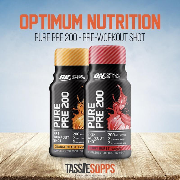 PURE PRE 200 - PRE-WORKOUT SHOT | OPTIMUM NUTRITION - Tassie Supps - Ready To Drink (RTD)