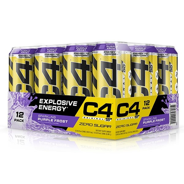 PURPLE FROST CARTON - C4 CARBONATED ON-THE-GO | CELLUCOR - Tassie Supps - Ready To Drink (RTD)