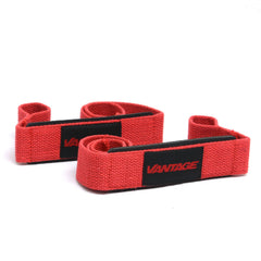 Red - SINGLE TAIL LIFTING STRAPS BY VANTAGE STRENGTH ACCESSORIES - Tassie Supps - Lifting Accessories