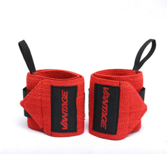 Red - Wrist Support with Thumb Loop by Vantage Strength - Tassie Supps - Lifting Accessories