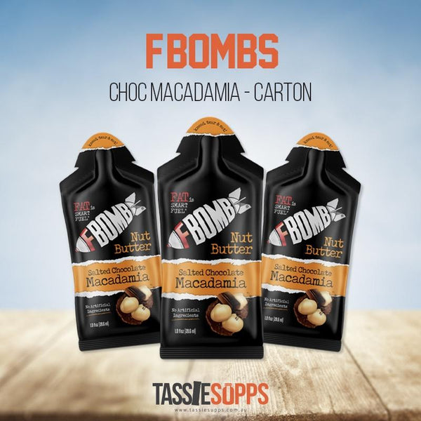SALTED CHOCOLATE MACADAMIA - NUT BUTTER CARTON - FAT BOMB | FBOMB - Tassie Supps - KETO