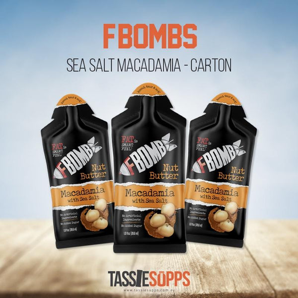 SALTED MACADAMIA - NUT BUTTER CARTON - FAT BOMB | FBOMB - Tassie Supps - KETO