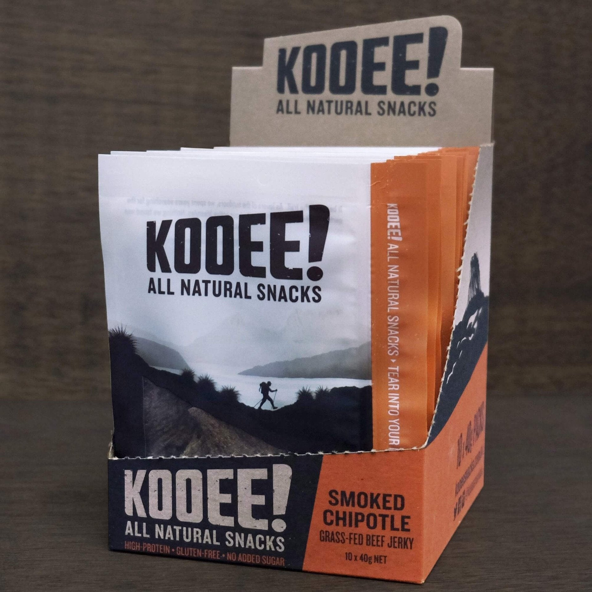 SMOKED CHIPOTLE Grass-Fed Beef Jerky x1 40g by KOOEE SNACKS - Tassie Supps - Snacks