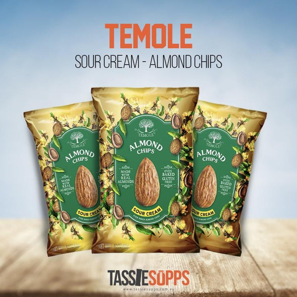 SOUR CREAM - LOW CARB - ALMOND CHIPS | TEMOLE - Tassie Supps - Snacks