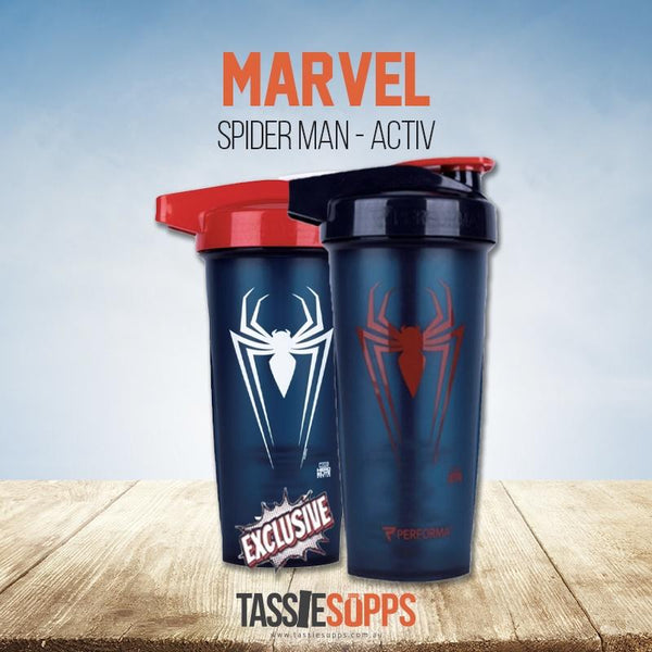 SPIDER-MAN - ACTIV SHAKER CUP - MARVEL | PERFECT SHAKER - Tassie Supps - Shakers / Bottles