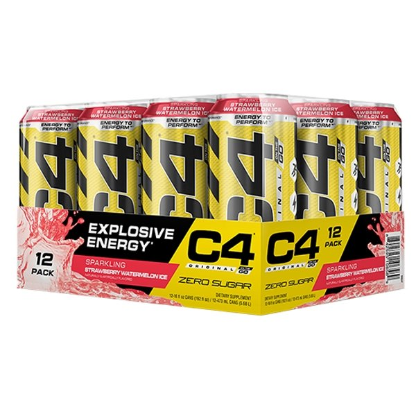 STRAWBERRY WATERMELON CARTON - C4 CARBONATED ON-THE-GO | CELLUCOR - Tassie Supps - Ready To Drink (RTD)