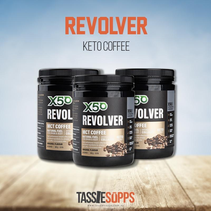 TRIPLE PACK - REVOLVER - MCT BULLET PROOF COFFEE | X50 - Tassie Supps - KETO