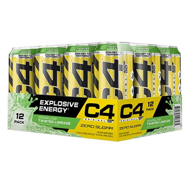 TWISTED LIMEADE CARTON - C4 CARBONATED ON-THE-GO | CELLUCOR - Tassie Supps - Ready To Drink (RTD)
