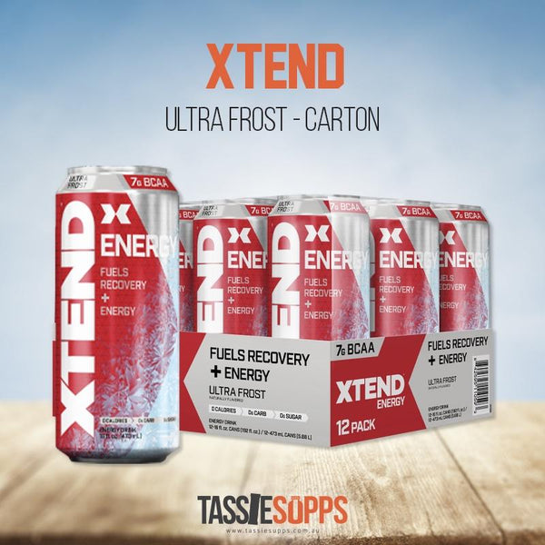 ULTRA FROST - CARTON - XTEND BCAA ENERGY - CARBONATED | XTEND - Tassie Supps - Ready To Drink (RTD)