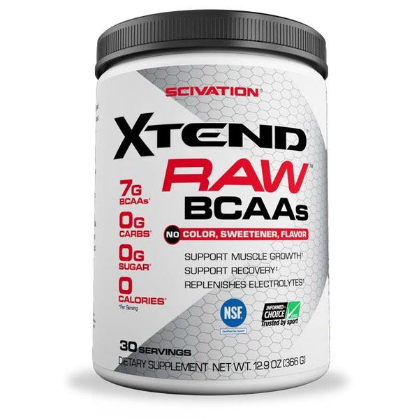 UNFLAVOURED XTEND RAW BCAA 30srv | SCIVATION - Tassie Supps - BCAA