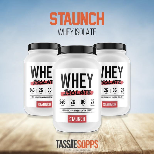WHEY ISOLATE | STAUNCH NATION - Tassie Supps - PROTEIN - DAIRY BASED