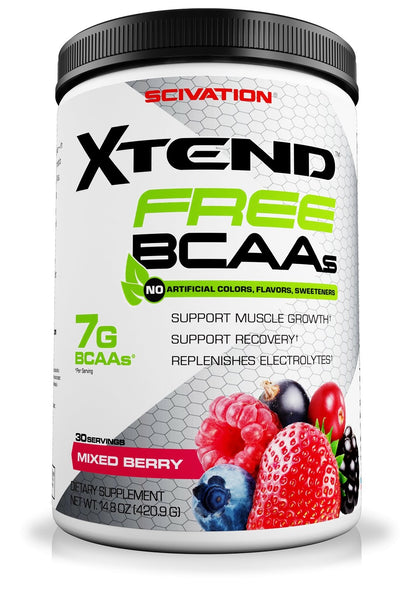 XTEND FREE BCAA ( NATURALLY SWEETENED ) | SCIVATION - Tassie Supps - BCAA