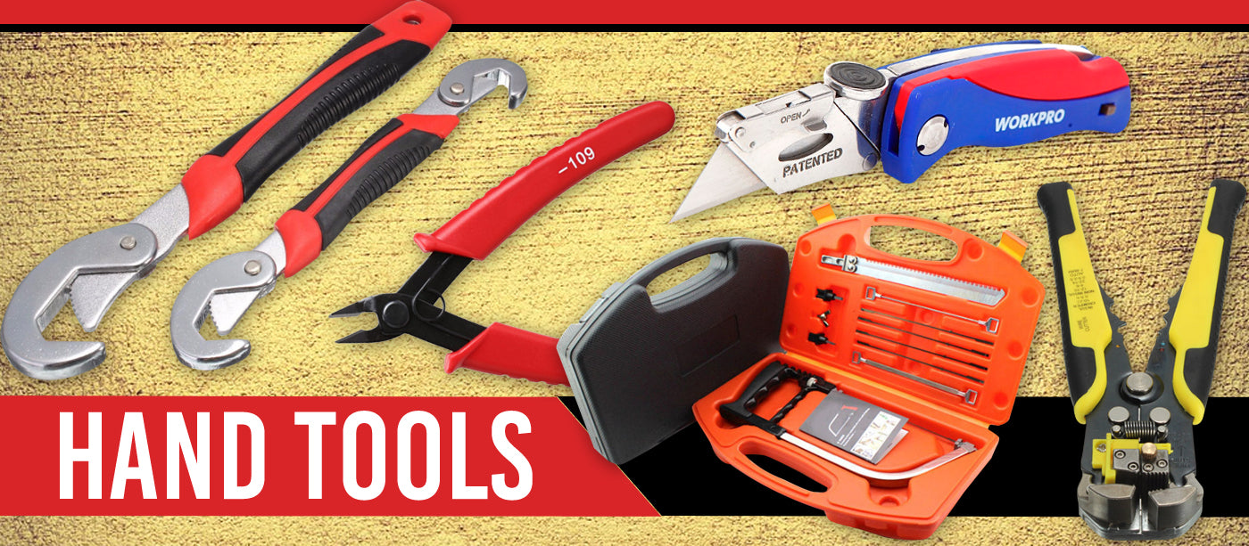 Tackle the job with a wide selection of top quality hand tools