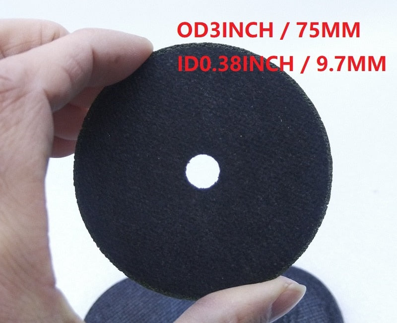 "New 3"" 75mm T1mm Cutting discs Grinding wheel Disc wheel For Air Pneumatic cutting tool Air tool. 10pcs/lot ID9.7MM"