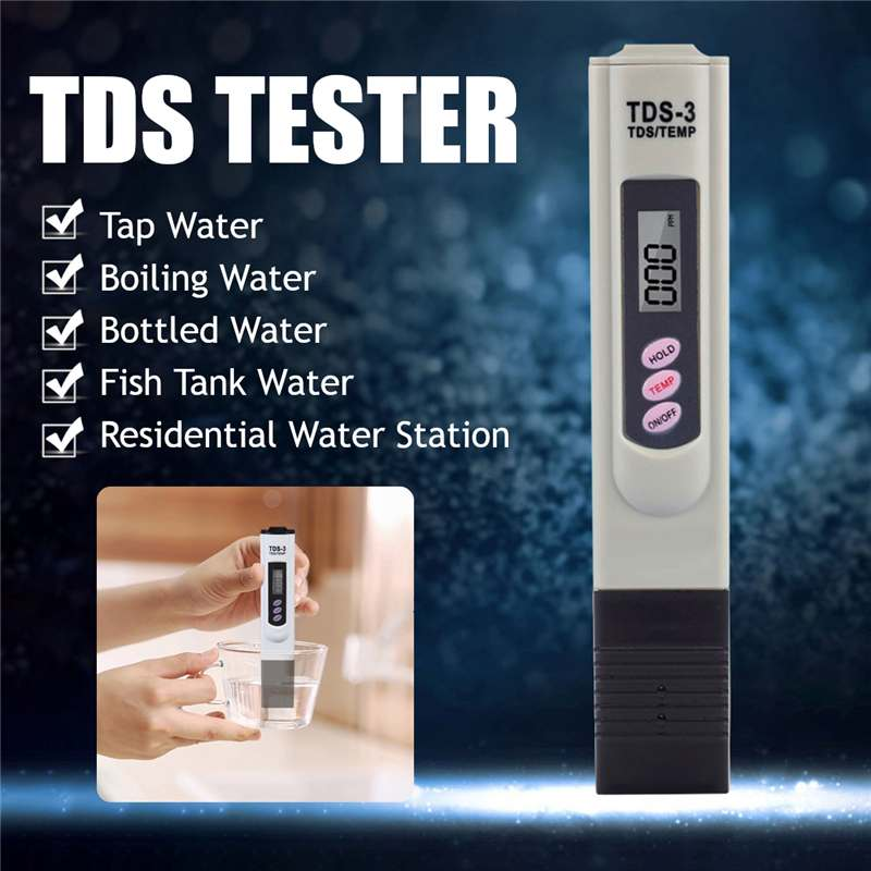 PH TDS Meter Tester 0-9990ppm Portable Digital Pen Digital High Accurate Filter Measuring Water Quality Purity test tool