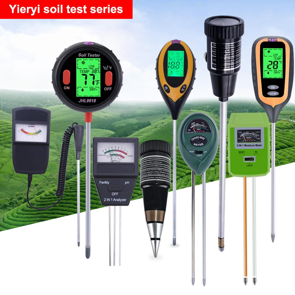 Yieryi 2019 New Soil Meter Fertility Tester Measures Soil PH Moisture Sunlight Temperature and Humidity 5 in 1/4 in 1/3 in1/2in1