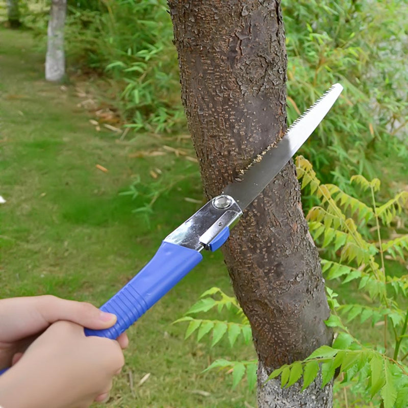 Steel Foldable Hacksaw Garden Folding Saw For Woodworking Serra Gardening Tool Household Anti-skip Hand Steel Sawing Tool